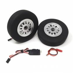 JP Hobby Electric Brake with 2x 115mm Wheels - Wide tyre 30mm (8mm axle)