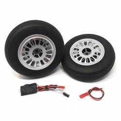 JP Hobby Electric Brake with 2x 136mm Wheels - Wide tyre 40mm (8mm axle)