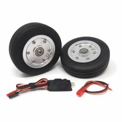 JP Hobby Electric Brake with 2x 84.5mm Wheels - Wide tyre 25mm (8mm axle)
